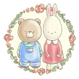 Cute bear and rabbit by Torataro