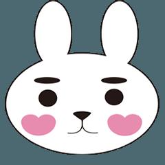 Rabbit face stickers