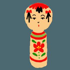 Japanese doll kokeshi Hana