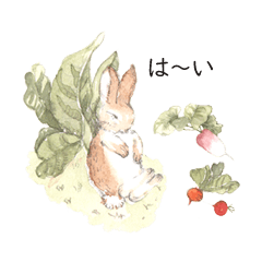 rabbits with gentle colored scenery