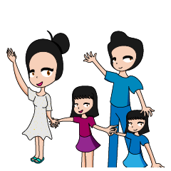Natik and her family