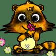 Mischievous raccoon dog