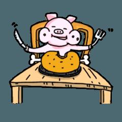 Pigs gluttony