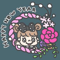 I am pearl ribbon.3-happy new year-