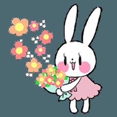 Cheerful Rabbit Sticker