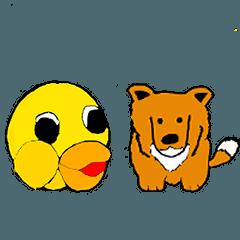 HIYOKOchan&sheto DOG Greeting Version
