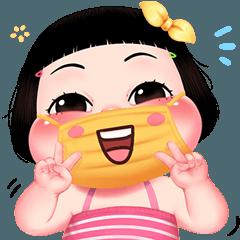 Cute Little Girl Pan Pan