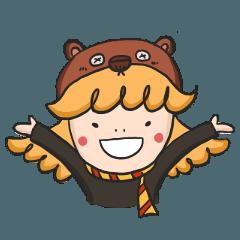 Chestnut bear Magical girl