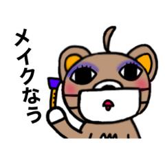Mask bear sticker2