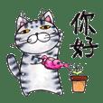 Japanese Hand painted Cat HIKOYA