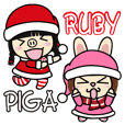 Sisters Piga and Ruby Merry Xmas