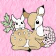 子鹿とうさぎの仲良し日記