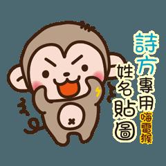 「詩方專用」嗨!!雷猴姓名互動貼圖
