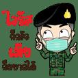 ทหาร มาชวนใส่แมสป้องกัน ไวรัส Covid-19