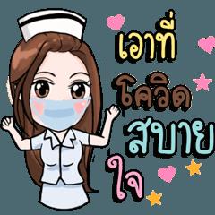 Cute Nurse Fight with Covid 19