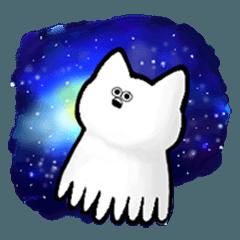 a sticker drifting as a cat