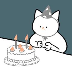 Softly white cat Mochi