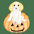 ビーグル犬のハロウィンスタンプ