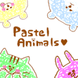cute pastel animals