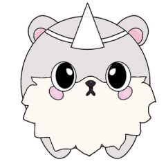 The little cute Oog ghost bear