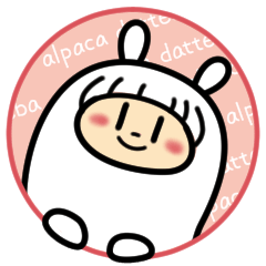 Alpaca sticker that kawai worked