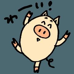 PIG Greeting Sticker