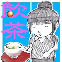 卓球女子 お茶サービス