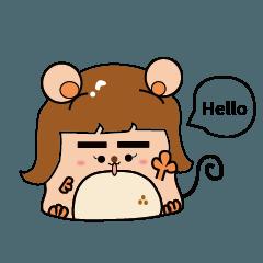 Little mouse say Hi