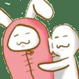 Mr.nanashi and sleeping bag rabbit