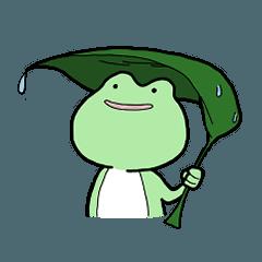 Carefree frog...