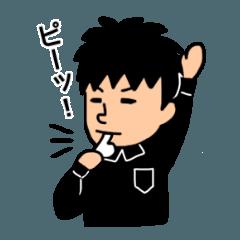 Futsal Referee [No.1] -Futball Sticker-
