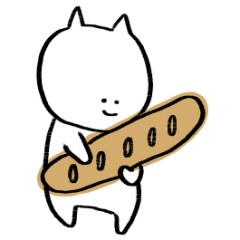 Cat with bread