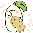 Poyo Taro and Mei-chan