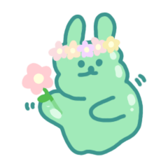 slime rabbit poto! (resize version)