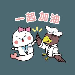 雙翼金鷹小廚與營養獅