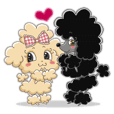 Fashionable retro poodle girls