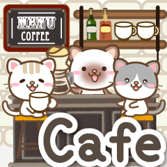 Natural cat, natural cafe style english