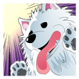 Sticker of Samoyed 2