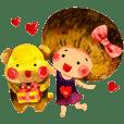 栗子妹 & QQ熊