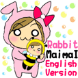 Sticker of English version rabbit Maimai