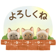[Moving] Cat sticker (Japanese message)