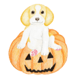 Halloween Beagle Sticker (English)