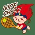Huo Sanzi's tennis life