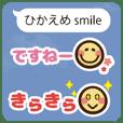 Modest smile