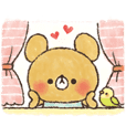 charming bear's sticker [love Ver.]