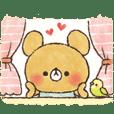 charming bear's sticker [love Ver.]