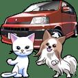車(ワゴンとミニバン)クルマバイクシリーズ