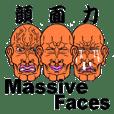 The massive faces