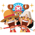 Stiker animasi imut ONE PIECE