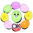 Fruit candy stickers
